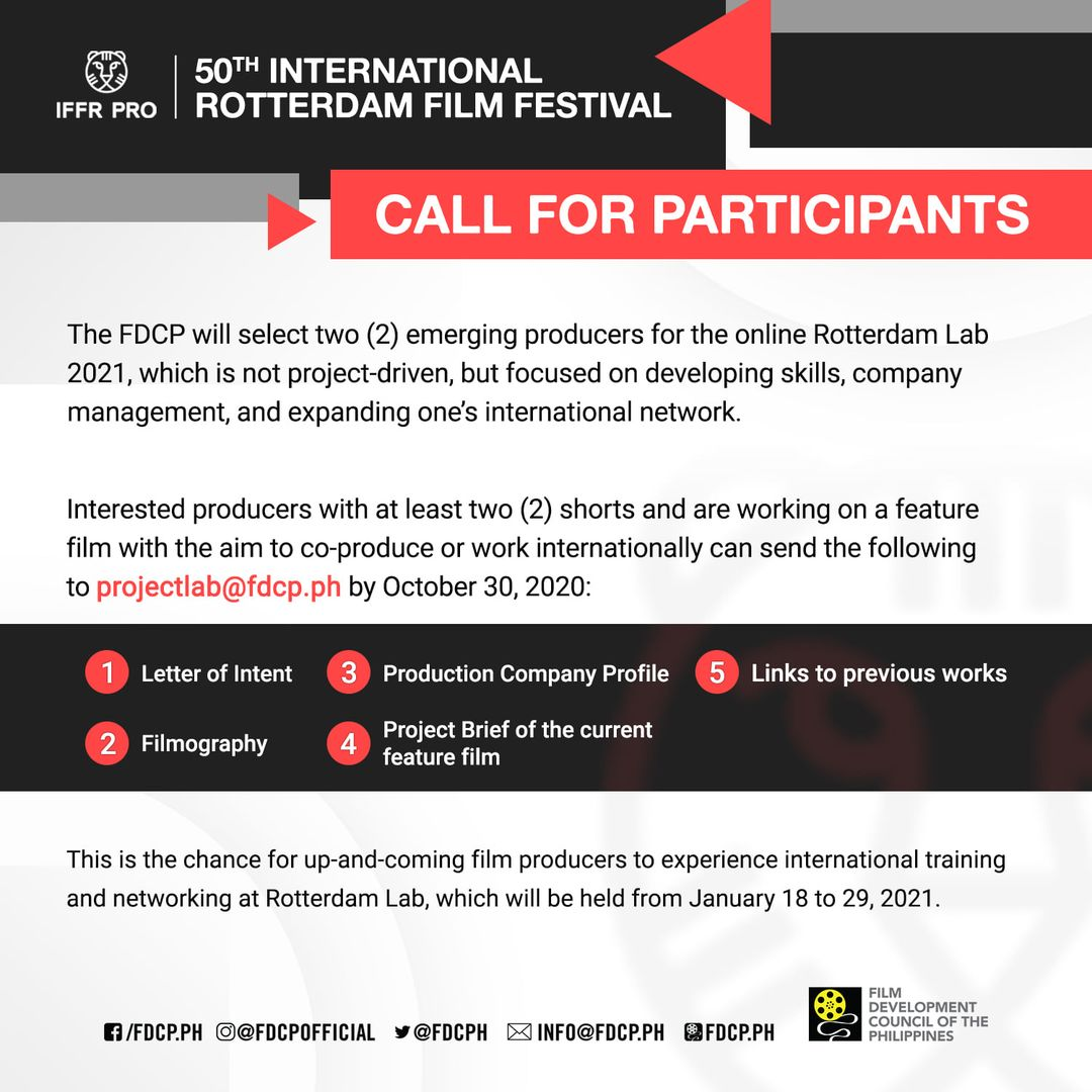 FDCP calls for producers to participate in Rotterdam Lab 2021
